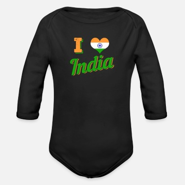 India India - Organic Long-Sleeved Baby Bodysuit