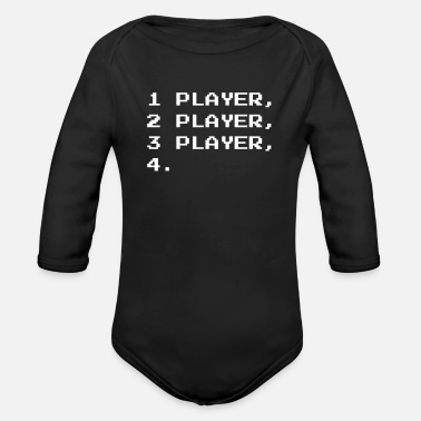 Multiplayer MULTIPLAYER - Organic Long-Sleeved Baby Bodysuit