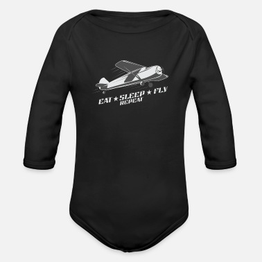 Flying Fly - Organic Long-Sleeved Baby Bodysuit