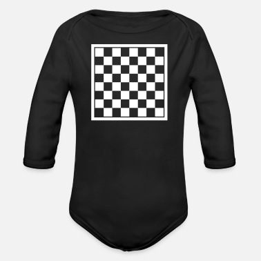 Checker Checkers - Organic Long-Sleeved Baby Bodysuit