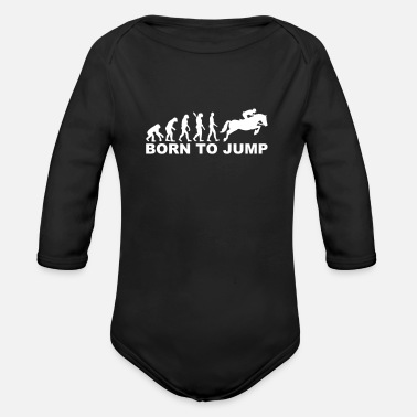 Show Jumping Show jumping - Organic Long-Sleeved Baby Bodysuit
