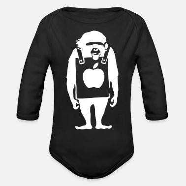 Music Club Monkey music club - Organic Long-Sleeved Baby Bodysuit