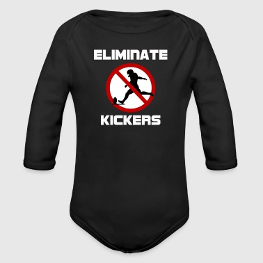 Kicker Eliminate Kickers - Organic Long Sleeve Baby Bodysuit