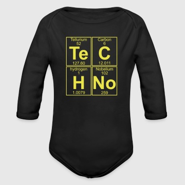 TECHNO PERIODIC TABLE - Organic Long Sleeve Baby Bodysuit