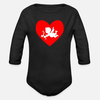 Cupid cupid - Organic Long-Sleeved Baby Bodysuit