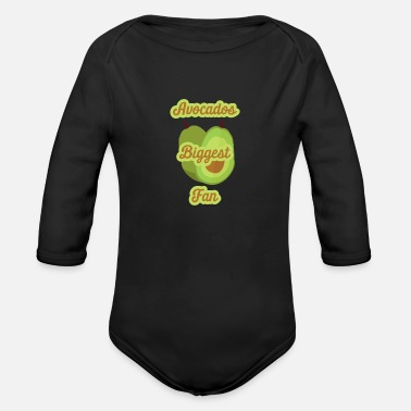 Biggest Fan Avocados Biggest Fan - Avocado - Organic Long-Sleeved Baby Bodysuit