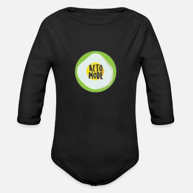 Dancing Quotes Keto Mode - Keto Diet - Organic Long-Sleeved Baby Bodysuit