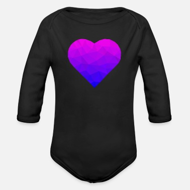 I Love abstract heart! great gift idea! - Organic Long-Sleeved Baby Bodysuit