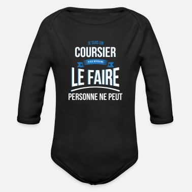 Courier Courier no one can gift - Organic Long Sleeve Baby Bodysuit
