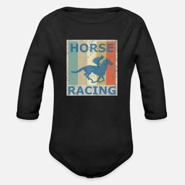 Equitation Retro Vintage Style Harness Racing Equitation - Organic Long Sleeve Baby Bodysuit