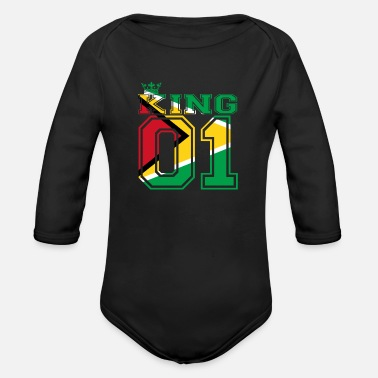 Guyana land partner king 01 prince Guyana - Organic Long Sleeve Baby Bodysuit