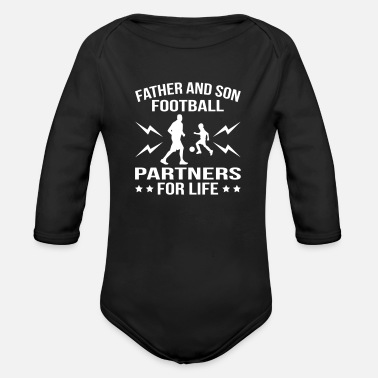 Son Father And Son Football Partner - Organic Long Sleeve Baby Bodysuit