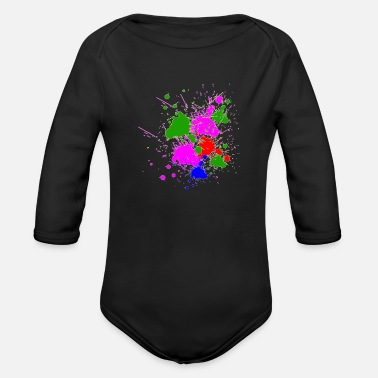Painting Paint it - Organic Long-Sleeved Baby Bodysuit