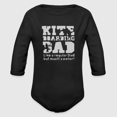 Kiteboarding Dad - Organic Long Sleeve Baby Bodysuit