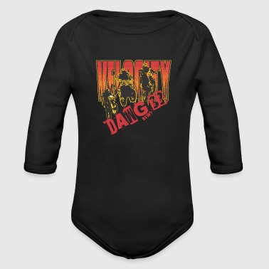 Welocity motocycle band - Organic Long Sleeve Baby Bodysuit