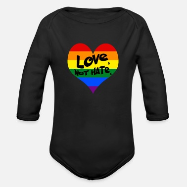 Standwithorlando lovenothate - Organic Long-Sleeved Baby Bodysuit