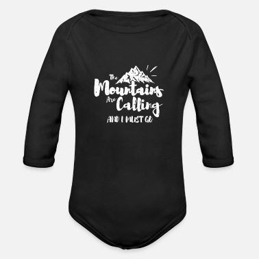 Mountain Climbing Mountain climbing - Organic Long-Sleeved Baby Bodysuit