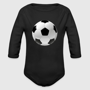 football realistic ball sport - Organic Long Sleeve Baby Bodysuit