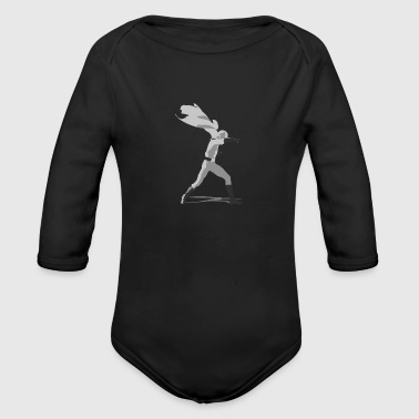 One Punch Man Saitama punch! - Organic Long Sleeve Baby Bodysuit