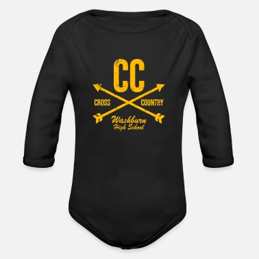 Country CC Cross Country Washburn High School - Organic Long-Sleeved Baby Bodysuit