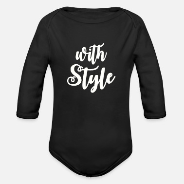 Style With Style - Organic Long-Sleeved Baby Bodysuit