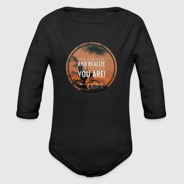 blessed you - Organic Long Sleeve Baby Bodysuit