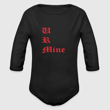 text - Organic Long Sleeve Baby Bodysuit