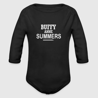 Buffy grave - Organic Long Sleeve Baby Bodysuit