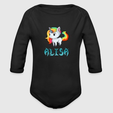Alisa Unicorn - Organic Long Sleeve Baby Bodysuit