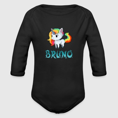 Bruno Unicorn - Organic Long Sleeve Baby Bodysuit