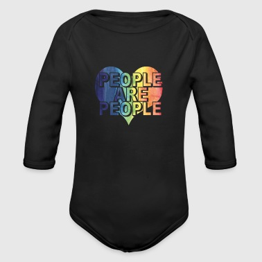 PEOPLE ARE PEOPLE - Organic Long Sleeve Baby Bodysuit