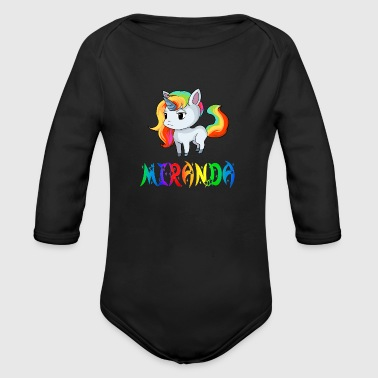 Miranda Unicorn - Organic Long Sleeve Baby Bodysuit
