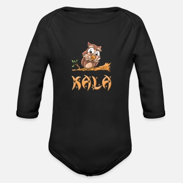 Kala Kala Owl - Organic Long-Sleeved Baby Bodysuit