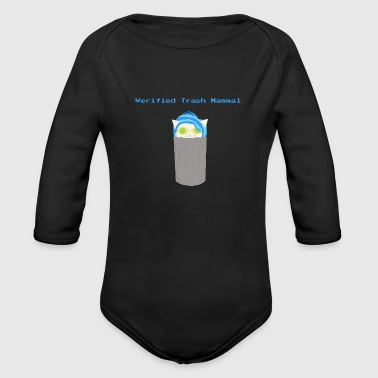 Verified Trash Mammal - Organic Long Sleeve Baby Bodysuit