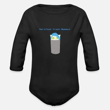 Mammal mammalian Verified Trash Mammal - Organic Long-Sleeved Baby Bodysuit