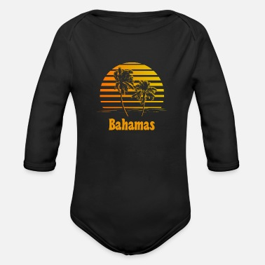 Bahamas Bahamas Sunset Palm Trees - Organic Long Sleeve Baby Bodysuit