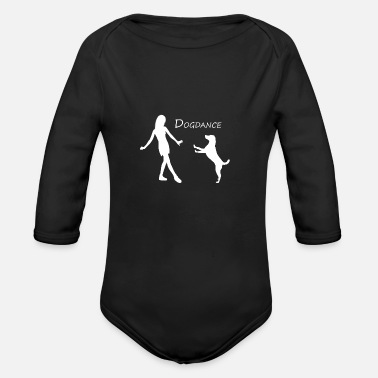 Dog Dancing T Shirt Dog Dance - Organic Long-Sleeved Baby Bodysuit