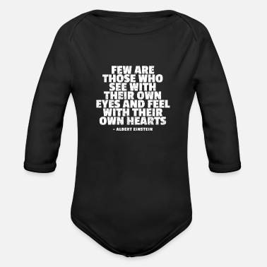 Einstein Quote Albert Einstein Quotes - Organic Long-Sleeved Baby Bodysuit
