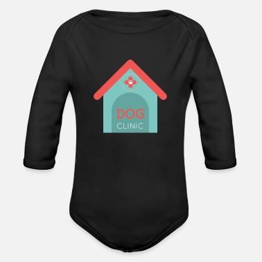 Clinic Dog clinic veterinarian - Organic Long-Sleeved Baby Bodysuit