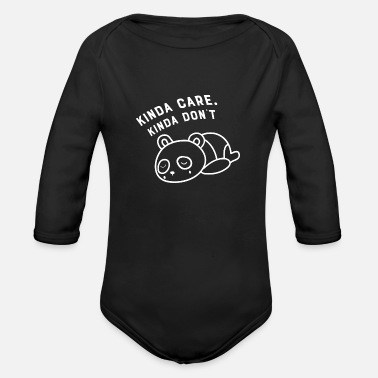 Animal Panda animal protection cute sweet animal lover an - Organic Long-Sleeved Baby Bodysuit