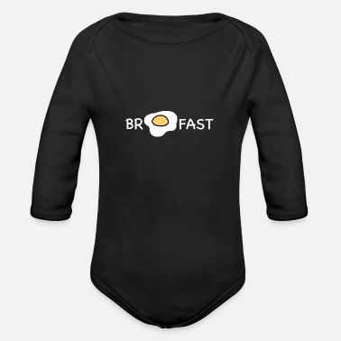 Breakfast Breakfast - Organic Long-Sleeved Baby Bodysuit