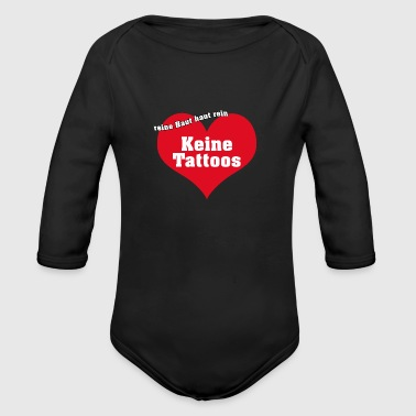 no ink - Organic Long Sleeve Baby Bodysuit