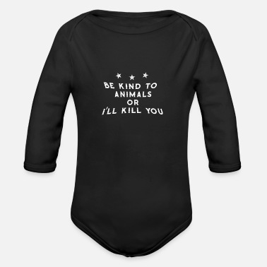 01 be kind to 01 01 - Organic Long-Sleeved Baby Bodysuit