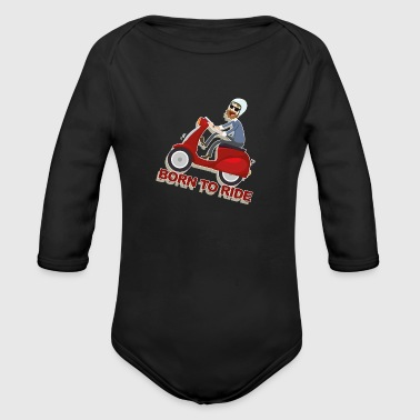 Scooter - Organic Long Sleeve Baby Bodysuit