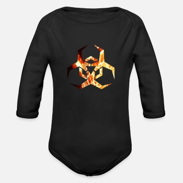 Nuclear Nuclear sign - Organic Long-Sleeved Baby Bodysuit