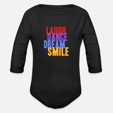 Laugh laugh - Organic Long Sleeve Baby Bodysuit
