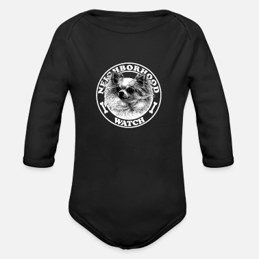 Neighborhood Neighborhood watch - Organic Long-Sleeved Baby Bodysuit
