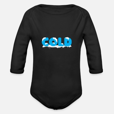Cold Cold - Organic Long Sleeve Baby Bodysuit