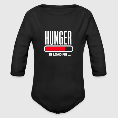 Hunger Hunger is loading - Organic Long Sleeve Baby Bodysuit