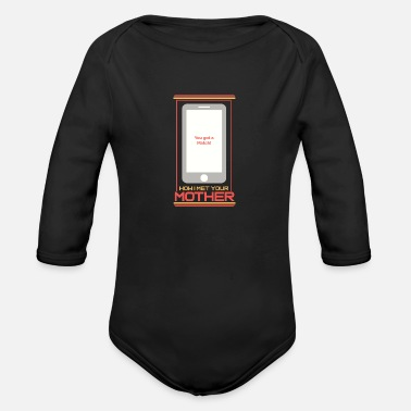 Date Online Dating - Organic Long Sleeve Baby Bodysuit